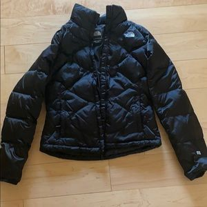 Black north face puffer winter coat small